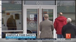 Chipotle to open later Monday for worker meeting related to food safety scares
