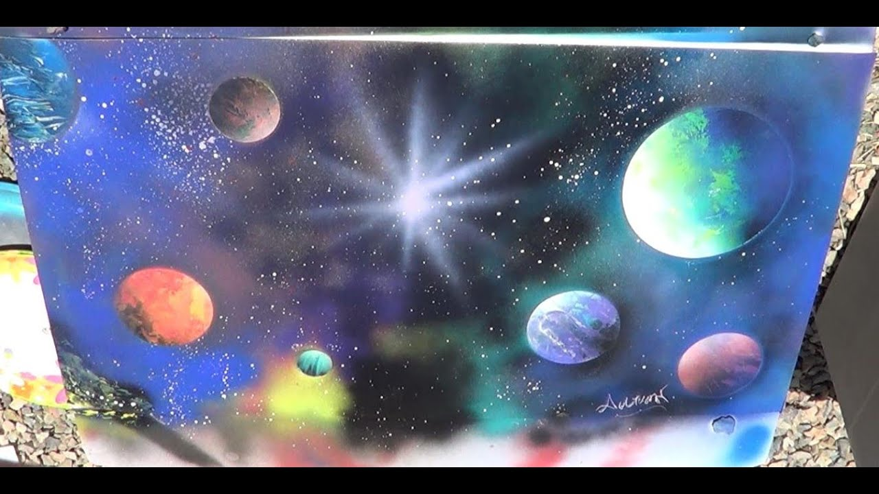 space spray paint art 2 artwork by autumn martino youtube. Black Bedroom Furniture Sets. Home Design Ideas