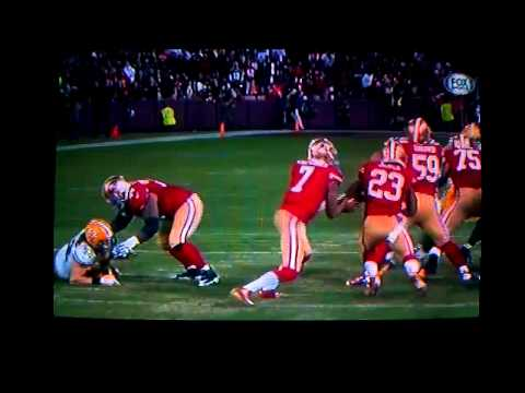 Mike Iupati crushes Clay  Mathews, 49ers vs Packer