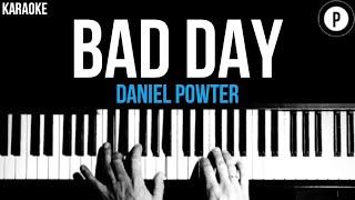 Daniel Powter - Bad Day Karaoke SLOWER Acoustic Piano Instrumental Cover Lyrics