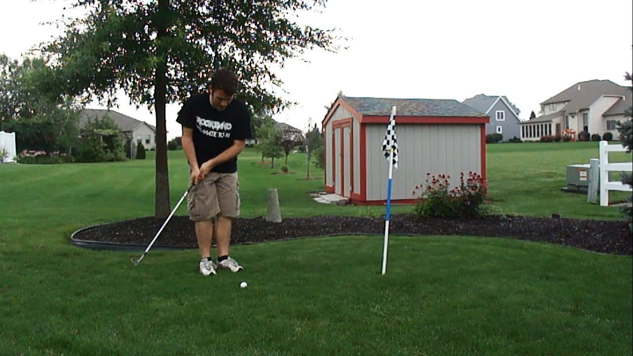 full round playing the backyard golf course 2013 youtube