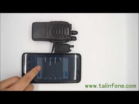 Bluetooth Adaptor for Handheld Two Way Radio Wireless Programming and GPS through Phone