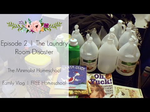 Episode 2 | Laundry Room Disaster | The Minimalist Homeschoo