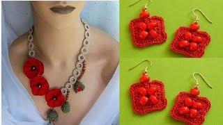 Collares Y Aretes Nuevos Tejidas A Crochet