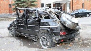 Аварии Мерседес Гелендваген (Гелик) Mercedes-Benz Gelandewagen (G-Class) Crash