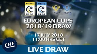 European Cups 2018/19 Draw thumbnail