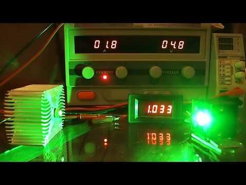 NDG 700mW 520nm Laser Diode Test