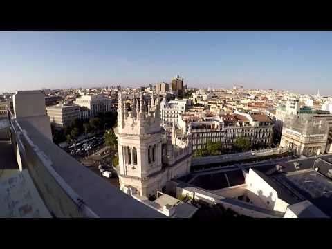 Madrid, Centre, view from, Palacio de Cibeles, HD GoPro 5