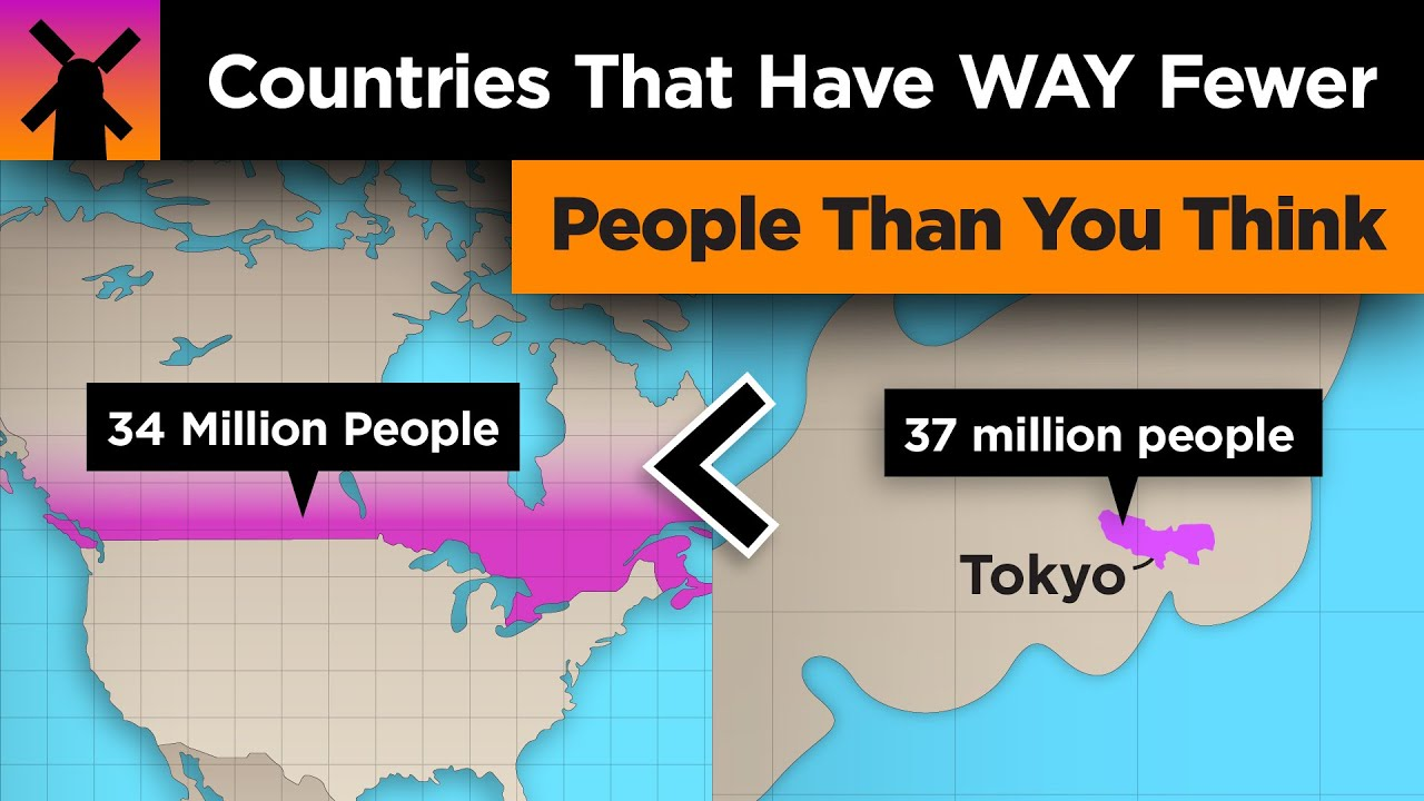 Download Countries With WAY Fewer People Than You Think
