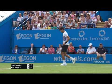 Novak Djokovic - hot shot - Aegon International Eastbourne - Saturday 1 July 2017