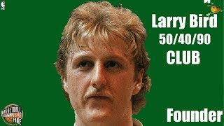 Larry Bird 50 40 90 CLUB Founder