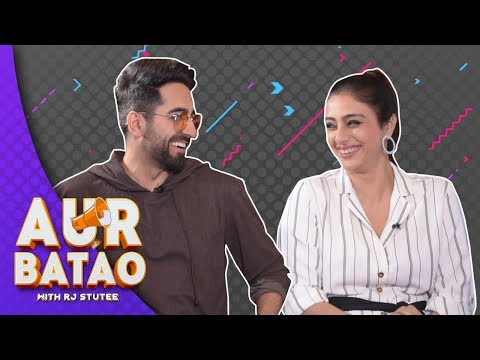 Ayushmann Khurrana makes Tabu blush || ANDHADHUN INTERVIEW II || AUR BATAO