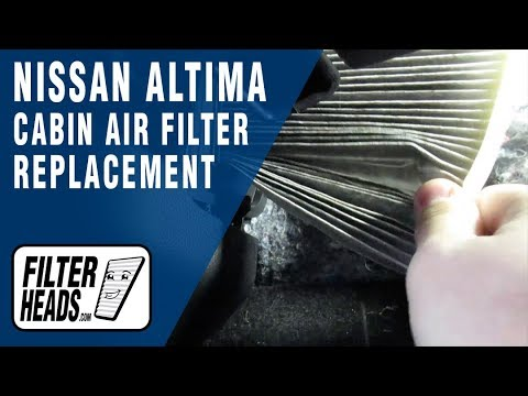 how to replace cabin air filter 2015 nissan altima -