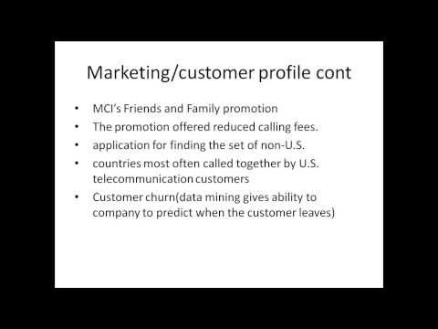 Data Mining In Telecommunication Part 3
