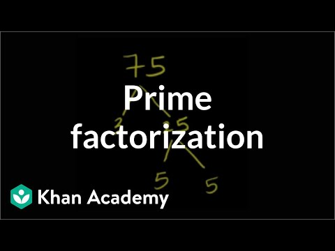 Prime factorization | Factors and multiples | Pre-Algebra | Khan Academy
