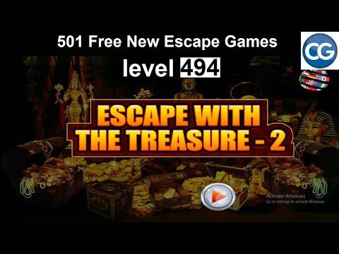 [Walkthrough] 501 Free New Escape Games Level 494 - Escape With The Treasure 2 - Complete Game