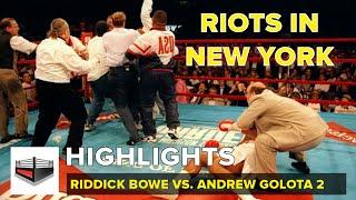 Riddick Bowe vs Andrew Golota II | VIDEO - HIGHLIGHTS