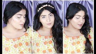 3 Ridiculously Easy Hairstyles For Indian Weddings And Parties   #TheShaadiSaga   Shreya Jain