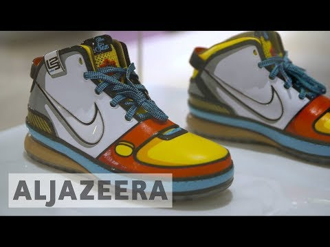 Australian art gallery holds sneaker exhibition