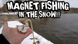 Magnet Fishing In The Snow