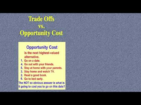 trade offs versus opportunity costs
