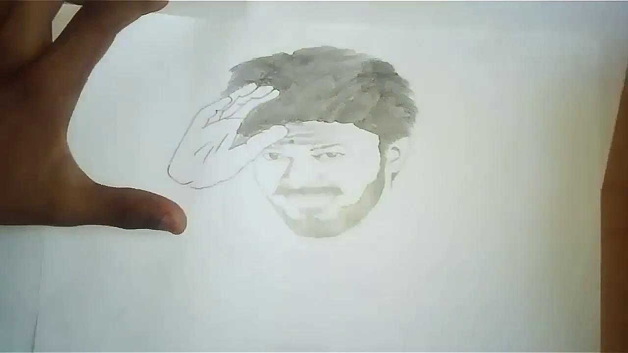 Suvarnaraj Arts Thalapathy First Look Drawing Mersal Vijay Youtube