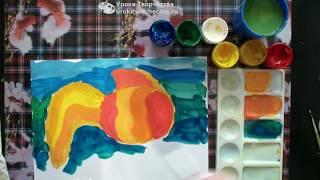 Рисуем рыб. Сокращенный  урок для детей 5-8 лет