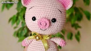 Амигуруми: схема Малыша Хрю. Игрушки вязаные крючком - Free crochet patterns.