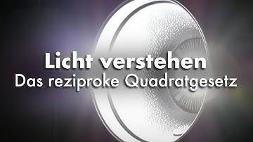 Licht verstehen - Das reziproke Quadratgesetz (inverse square law)