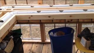 Winter Rain Gutter Grow System Greenhouse With Heated Water Build