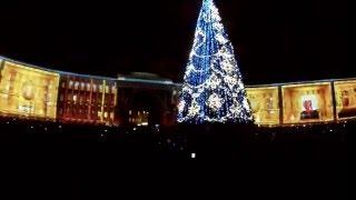 3D Шоу - Новогоднее.Дворцовой площади в Санкт Петербурге