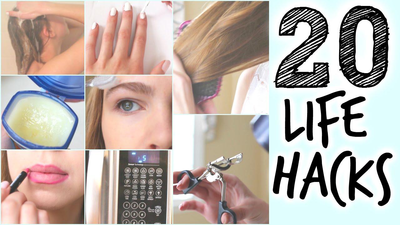 20 Life Hacks Every Girl NEEDS To Know!!