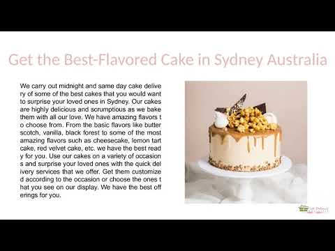 Order Online Same Day And Midnight Delivery Cake In Australia