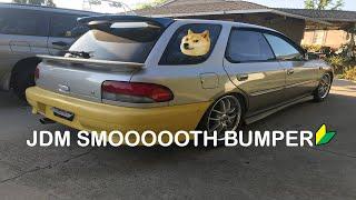 Jdm Smooth Bumper Install on my Subaru Gf8!