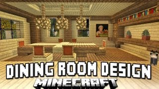 Minecraft Tutorial: How To Build A House Part 13 (Dining Room Chairs And Table Design)
