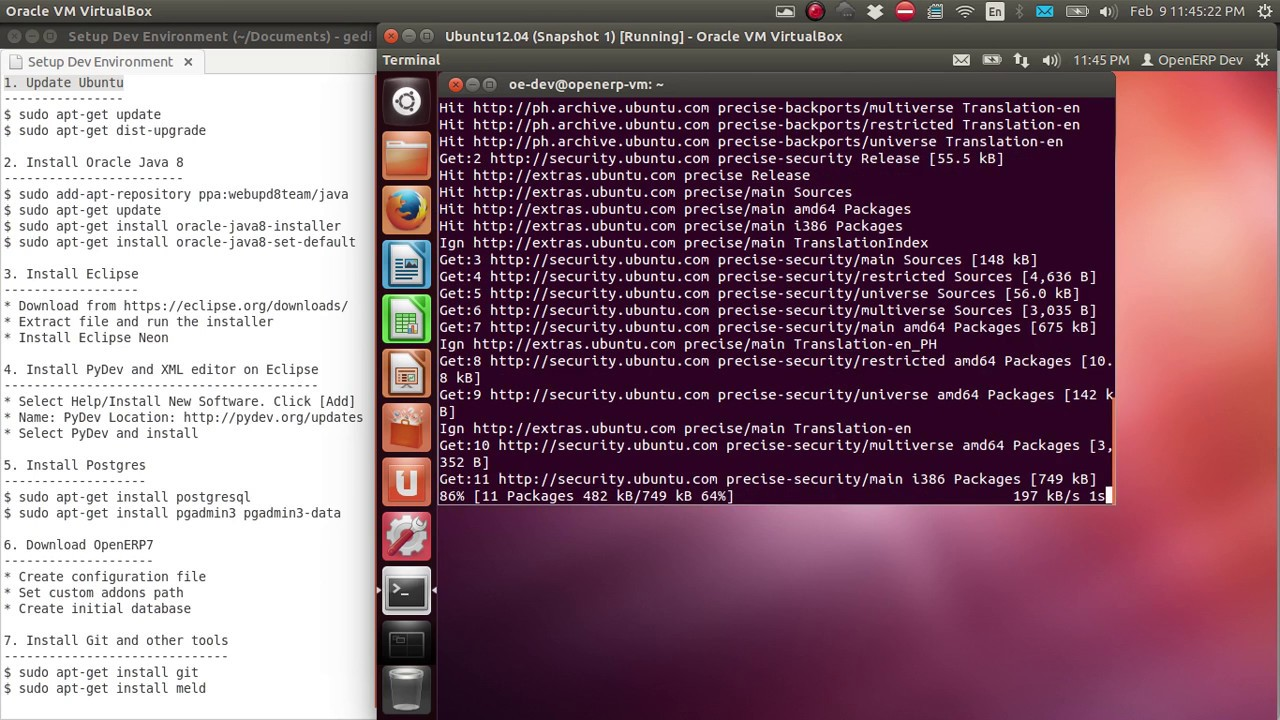 Setup OpenERP development environment in Ubuntu 12 04