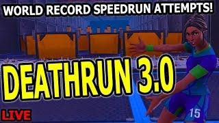 Cizzorz Death Run 3.0 World Record Attempts! (Deathrun 3.0 Speedrun Challenge)