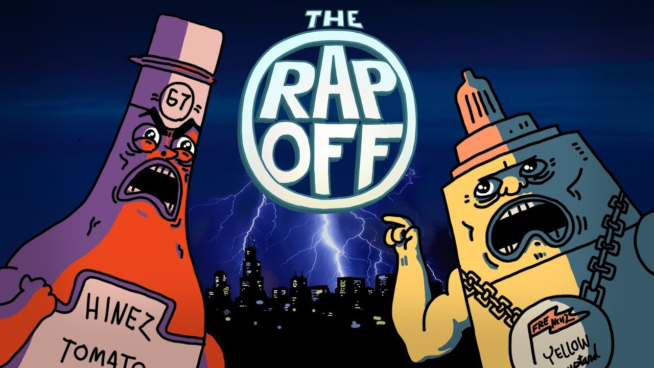 Ketchup vs Mustard RAP BATTLE ft  Dizaster (RapOff tv)