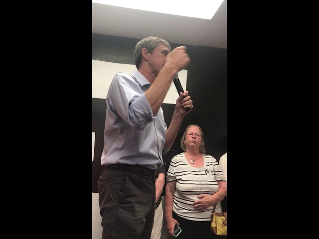 Beto O'Rourke speech at Cedar Rapids office opening