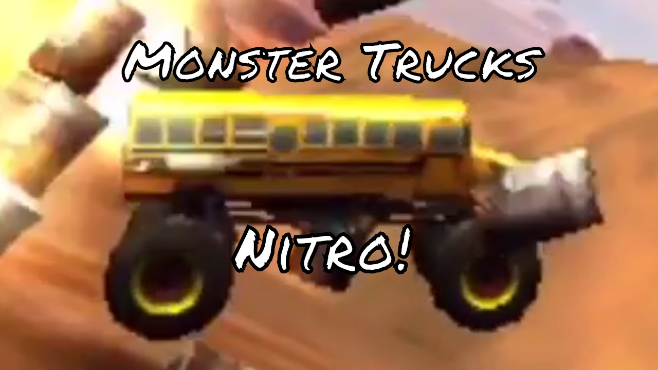Monster Trucks Nitro Monster Trucks Gameplay With A Monster Truck Bus Camioneta Monstruo Autobus Youtube