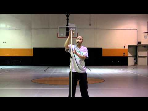 Dana Barros Demonstrates the Pro Free Throw Trainer