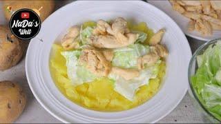Kartoffelstampf mit Hähnchen Rezept | Leichtes Sommer Mittagessen | NaDas Welt Rezepte