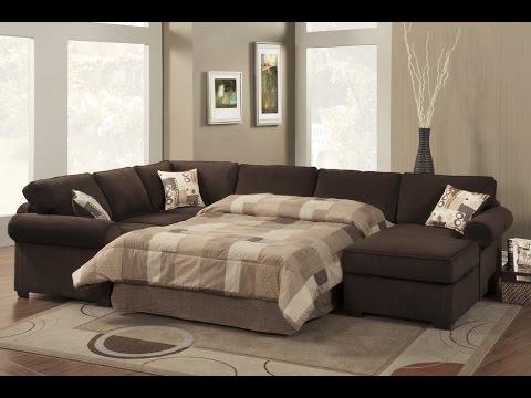 Contemporary Sectional Sleeper Sofa Design Ideas - YouTube