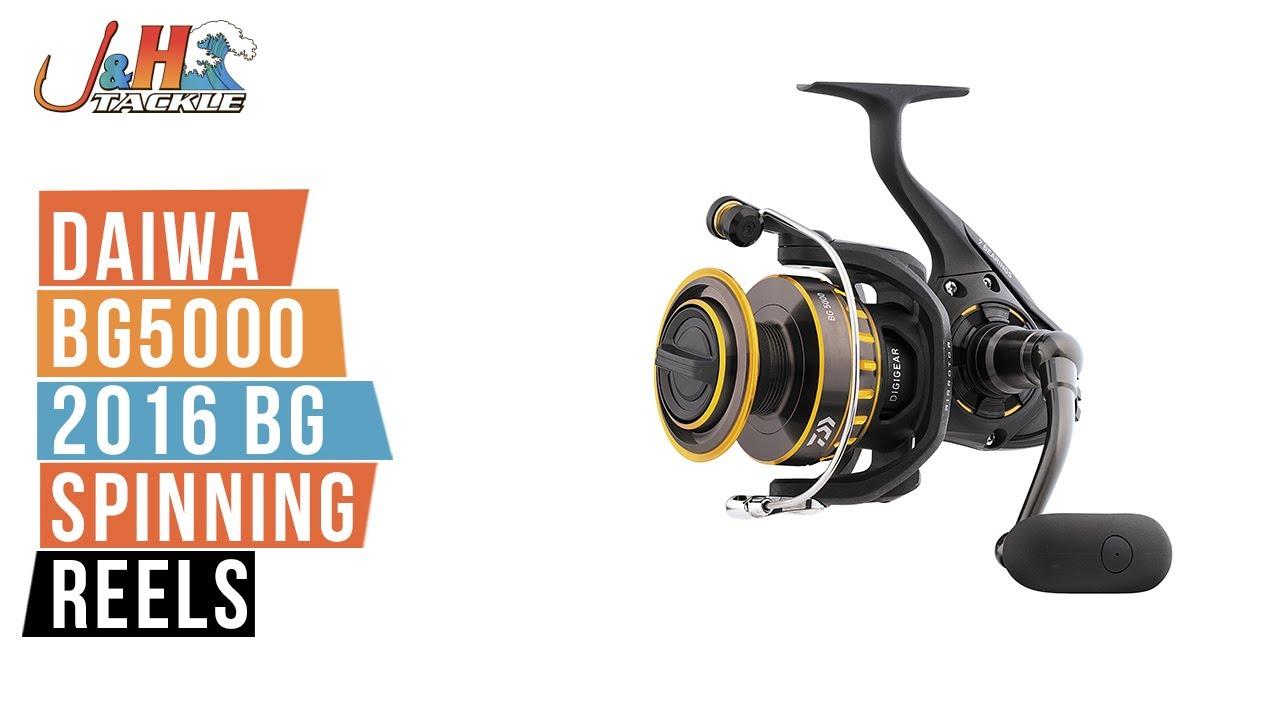 53f583230eb Daiwa BG5000 2016 BG Spinning Reels | J&H Tackle - YouTube