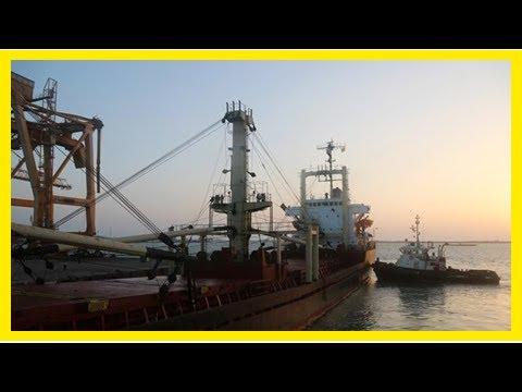 First aid ship in Yemen presstv hudaydah portUs news-