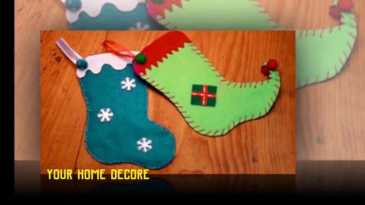 90 bricolages de Noël faciles - 🔷 ideé déco pour noël   bricolage facile de noël - YouTube