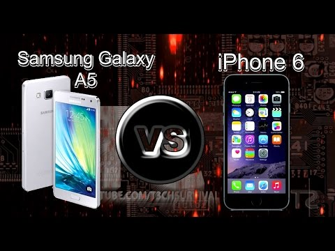 samsung galaxy a5 vs iphone 6 youtube. Black Bedroom Furniture Sets. Home Design Ideas