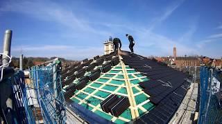 Wie deckt man das Dach einer Stadtvilla?