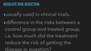 Video Attributable Risk vs. Absolute Risk Reduction download MP3, 3GP, MP4, WEBM, AVI, FLV November 2017