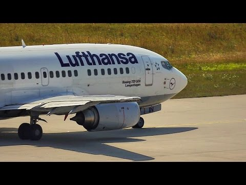 Lufthansa Boeing 737-500 Taking Off from Leipzig/Halle (Germany)
